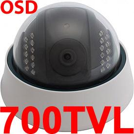 Cámara de Vigilancia c/Menú OSD, CCD Sony Effio SuperHAD y Visión Nocturna de 25m (Lente de 4mm)