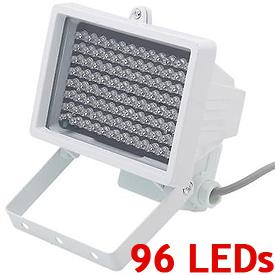 Iluminador Infrarrojo *Spot* con 96 LEDs IR para la Visión Nocturna (30-45° de cobertura hasta 40m)