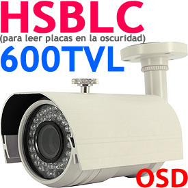 HSBLC License Plate Camera (4-9mm Varifocal Lens, 960H format)