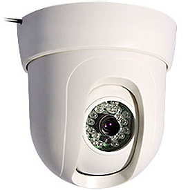 Cámara Domo para Interior con Control Pan-Tilt y Visión Nocturna de hasta 25m (Lente de 8mm)