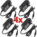 Four 12V, 1A CCTV Power Supply Adapters for 12V CCTV Cameras