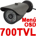 Surveillance Camera with OSD Menu, Sony CCD, 48 IR LEDs for 50m Night Vision (6mm Lens)