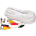 100 Foot White Audio, Video, Power Extension Cable