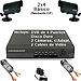 Kit Completo CCTV c/DVR de 4 Puertos, Disco duro de 120GB, 2 Cámaras Económicas, 2 Cables