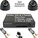 Kit Completo CCTV c/DVR de 4 Puertos, Disco duro de 120GB, 2 Cámaras Prémium, 2 Cables