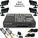 Kit Completo CCTV c/DVR de 4 Puertos, Disco duro de 320GB, 4 Cámaras Económicas, 4 Cables
