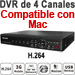 4-CH Professional DVR, 120fps, VGA, 4x Audio, PTZ, LAN, Internet and 3G Monitoring, Mac Compatible!