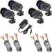 Four Budget Indoor CCTV Camera with 10m Cables (6mm lens)