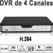 4-CH Professional DVR, 120fps, VGA, 4x Audio, PTZ, LAN, Internet and 3G Monitoring