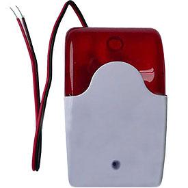 Alarma de 105db con Luz Estroboscópica Roja p/Sistemas CCTV