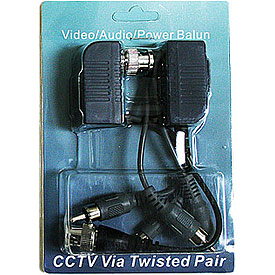 Par de Baluns p/Video, Corriente y Audio (o PTZ), 1 cámara - 150-300m