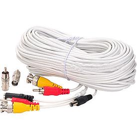 Cable de Extensión Blanco de 30.5m para Video, Corriente y Audio (o PTZ)