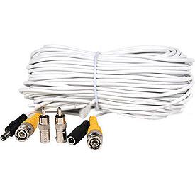 Cable de Extensión Blanco de 30.5m para Video (o Audio) y Corriente