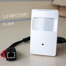 Cámara IP de 720p, ONVIF, Oculta en Detector de Movimiento Falso