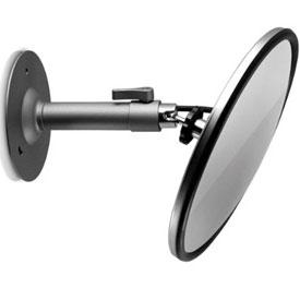 Cámara Oculta en Espejo Convexo Grande c/Soporte de Pared (Lente de 4mm)