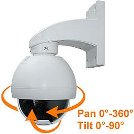 Cámara Domo para Interior o Exterior con Control Pan-Tilt (Lente de 8mm)