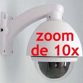 Cámara Domo para Interior o Exterior con Control Pan, Tilt y Zoom Óptico de 10x (5.5mm-55mm)