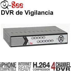 DVR de 4-Canales, 120fps, 1x Audio, PTZ, Acceso por LAN, Internet y 3G