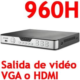 DVR 960H Pro de 8-Canales, 240fps, VGA, HDMI, PTZ, Acceso por LAN, Internet y 3G